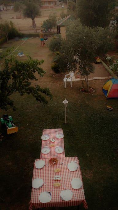 Geniş aileler için bahçede keyifli mangal geceleri :)