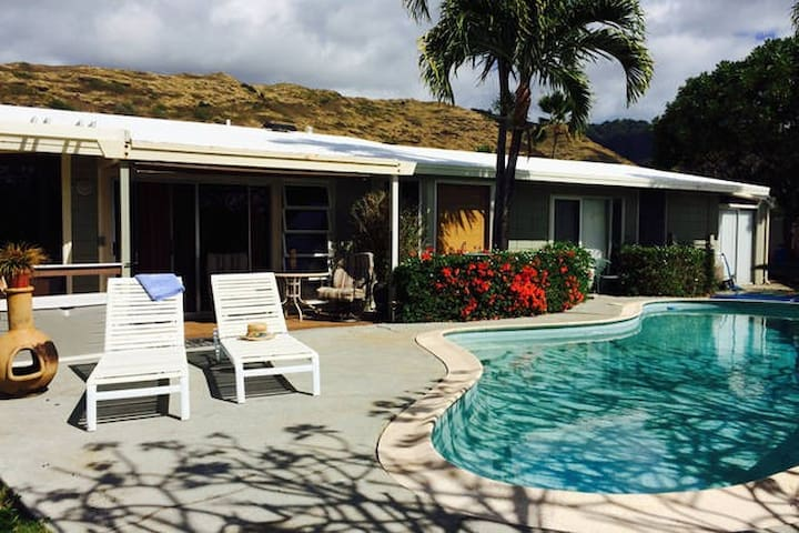 Family Apt on Canal w/pool, Near Everything! - Honolulu - Appartement