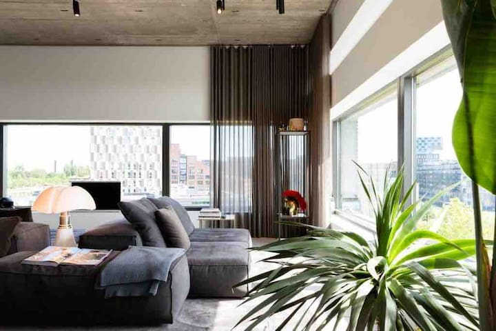 Beautiful luxurious spacious loft with a nice view