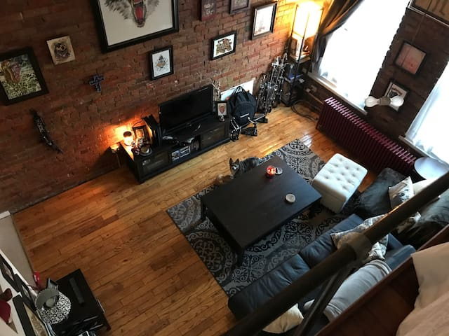 New York Style Loft (Vaulted Ceilings and Brick)