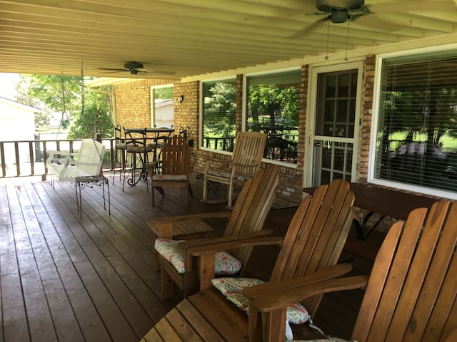 The best part of the house - the back deck.