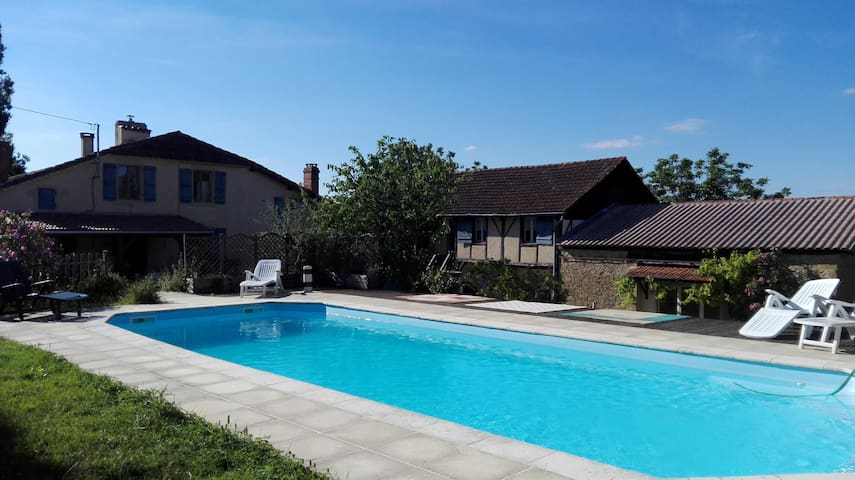 Samalens Cottage fishing pond pool ponies - Saint-Pierre-d'Aubézies - Huis