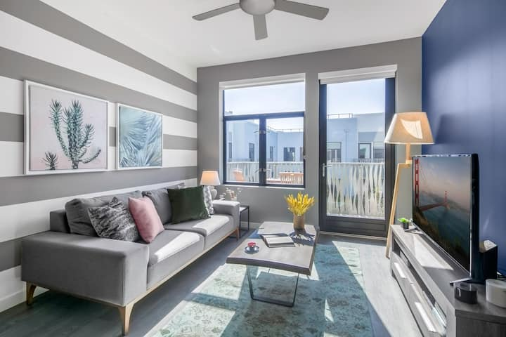 Sleek 1BR Mission Bay, w/ Gym, close to Caltrain by Blueground