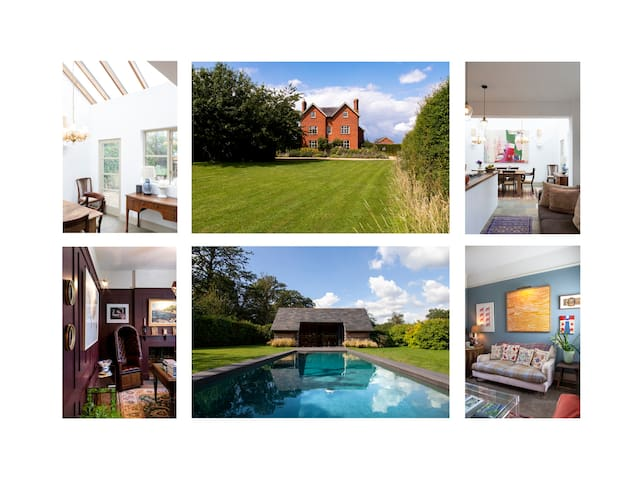 Luxury 5 Bedroom Farm House with Heated Pool & Gym