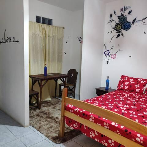 habitacion matrimonial en Hotel Las Palmeras