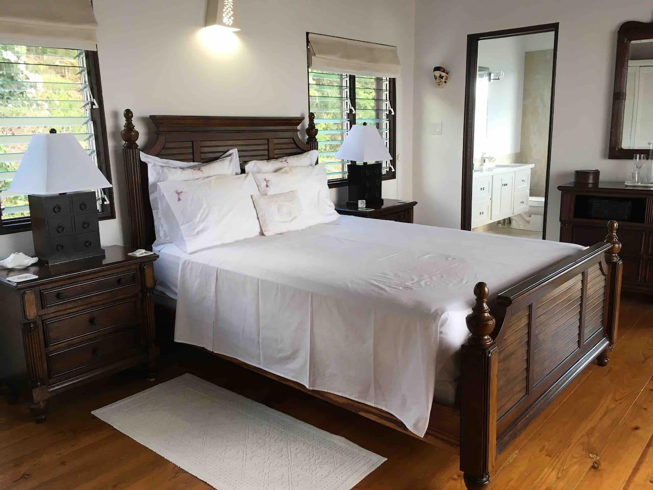 The Colonial Suite with private en suite bathroom, wet room with rain fall shower.