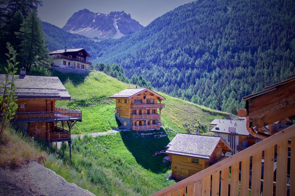 View on the chalet