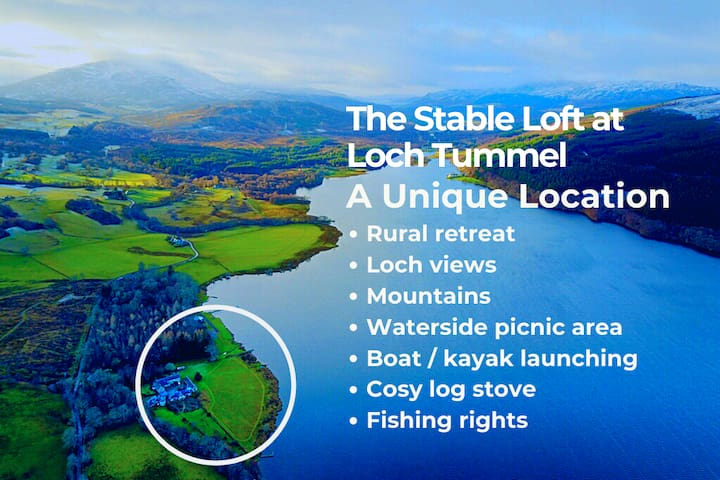 The Stable Loft on Loch Tummel