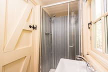 Ensuite hot shower and loo.