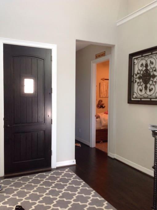Guest room near main front door