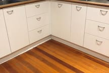 Kitchen, help yourself to everything you need, gas cooking, and oven