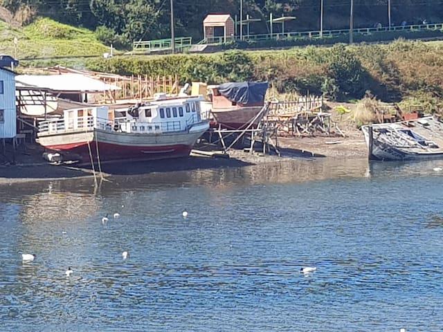 Departamento Palafito Castro con Vista al Mar