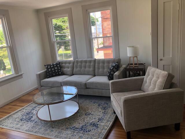 Living Room, Light, Airy, Modern!