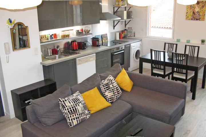 BRIGHT APARTMENT FOR 2 PEOPLE - TOULOUSE CENTER