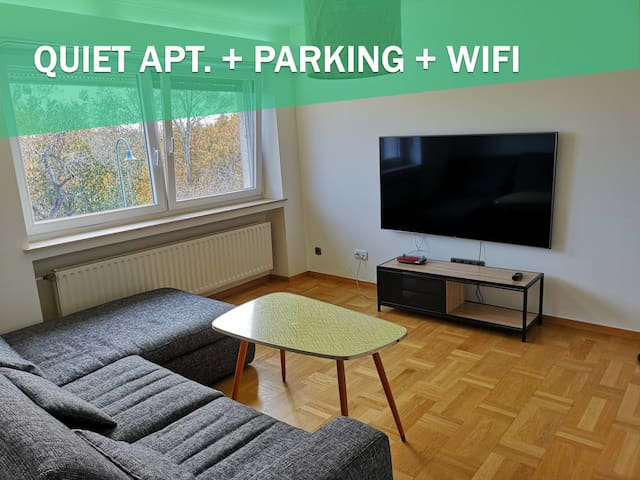 QUIET APT. + WIFI + PARKING