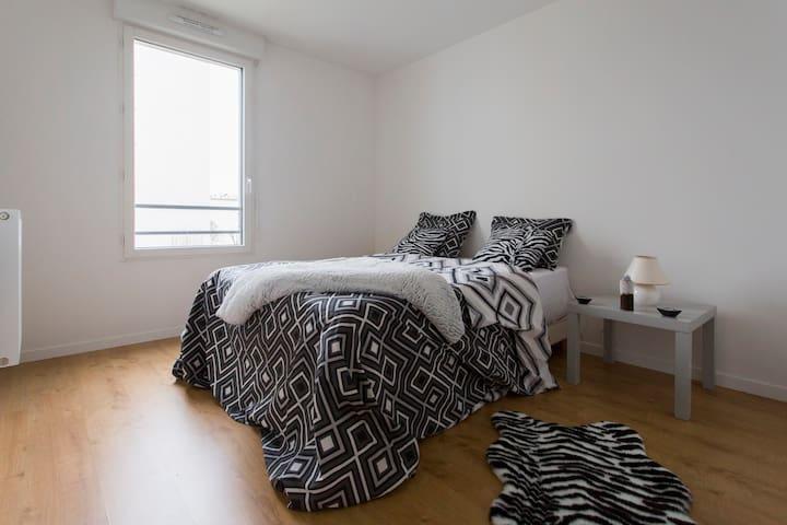 Belle Chambre et salle de bain privée près dePARIS - Aubervilliers - Appartement