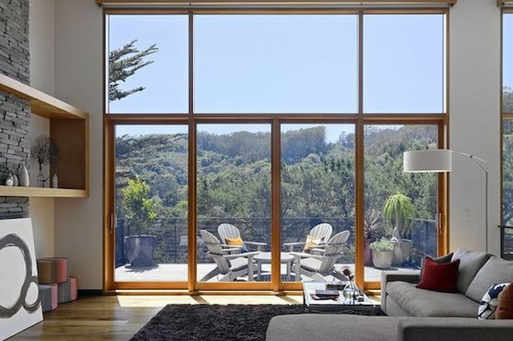 Mill Valley modern home with a view
