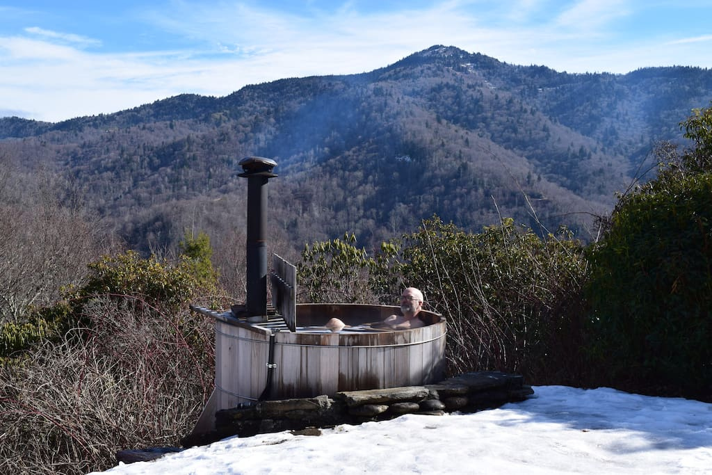 View East of Waterrock Knob from wood fired hot tub