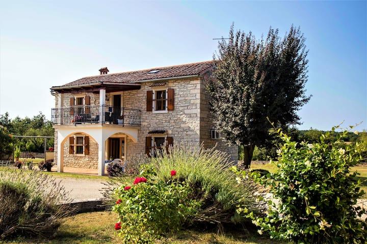Rustik Stone Villa house in peaceful nature Istria