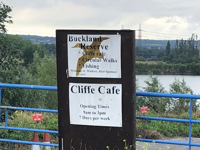 Local Cafe on the shore of Buckland Lake 1 miles away