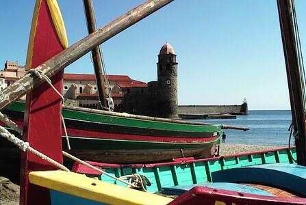 Collioure : F2 climatisé dans résidence très calme
