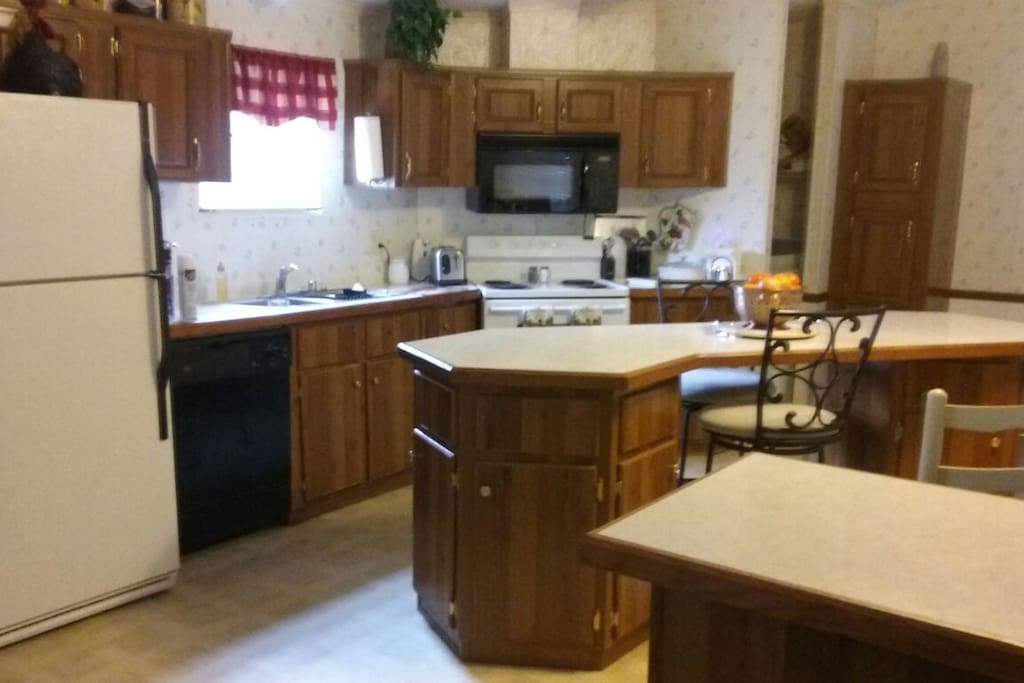Open kitchen with all appliances