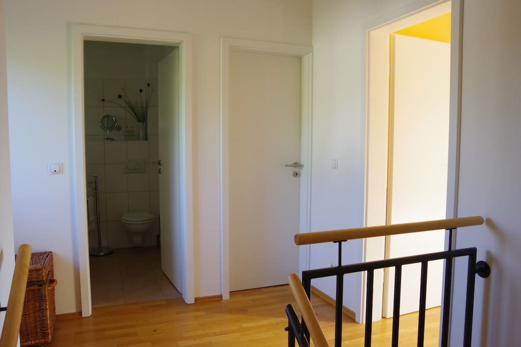 Second floor of our house with bed and bath room for your use only