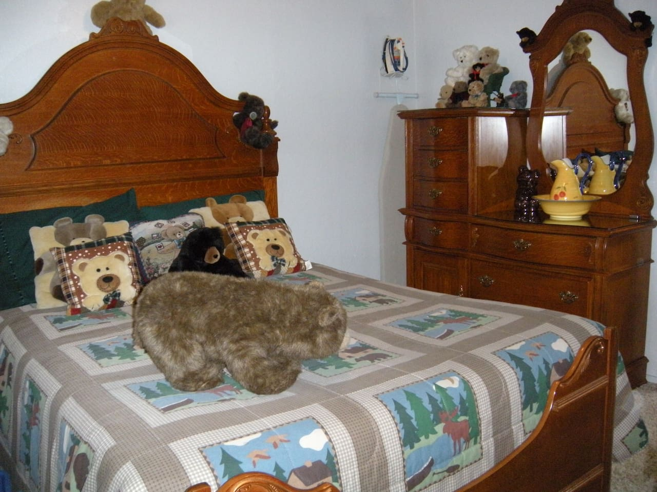 Your Queen Size Bed in the Bear Room