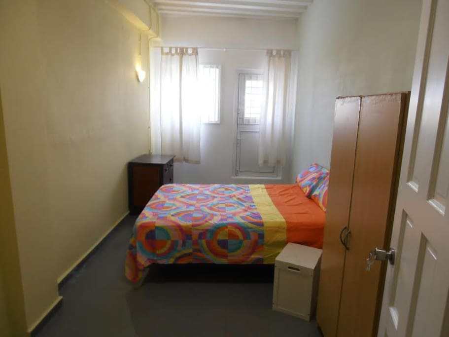 This is our room for two people. Separated beds are an option!