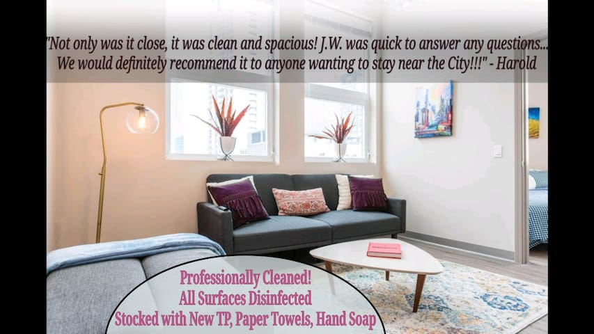 The Professional🤓McCormick-Museums 2bd/2ba(+gym)