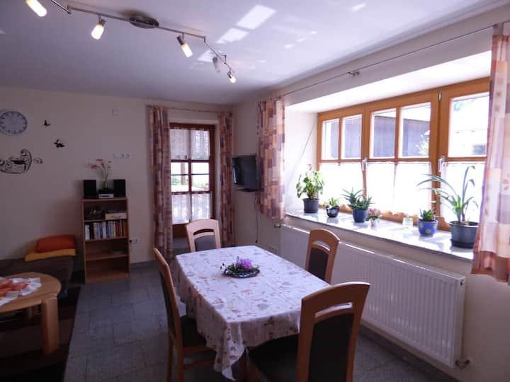 Gillingerhof (Chamerau), Ferienwohnung Hofblick (55qm) behindertengerecht mit Terrasse für 2 Personen