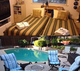 Quiet & Clean - King or 2 Twin! Pool & HotTub BR#3 - Duncanville - Bed & Breakfast