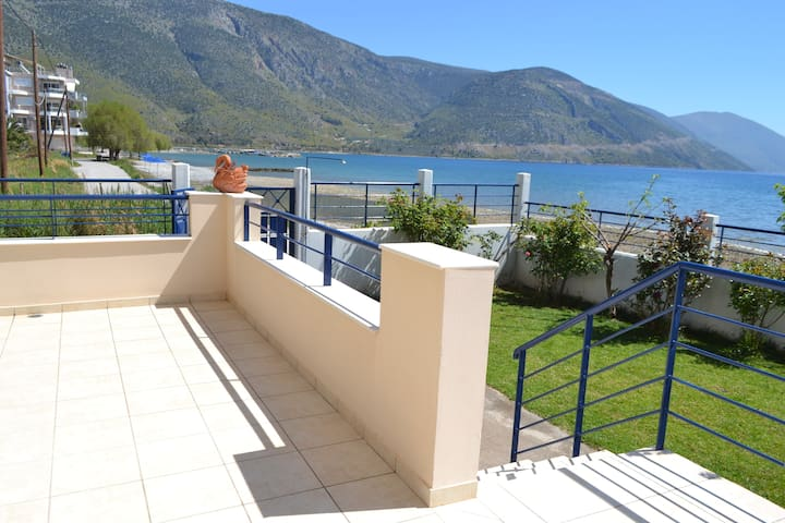 Luxurious house by the sea with Delphi view