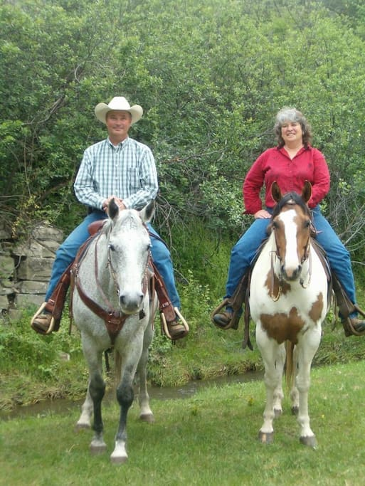 Your hosts, Remi and Susan Metcalf, are fourth generation Montana  cattle ranchers.