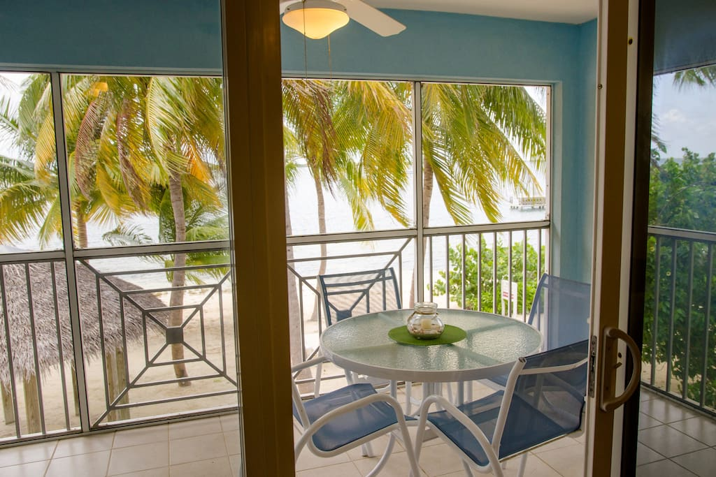 Lovely screened patio.
