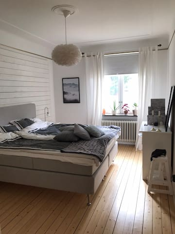 Spacious bedroom with a 1.80 bed for one or two people
