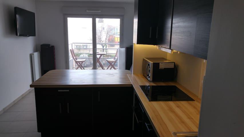 T2 Pierre Benite 5 places avec garage fermé - Pierre-Bénite - Apartamento
