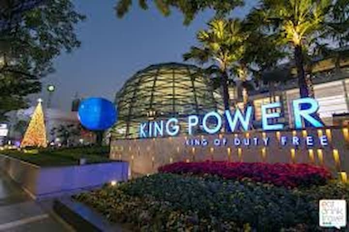 King power located in Rangnam alley which is 10 minute by walking distance.