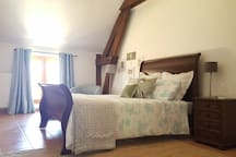 Chambre 2 personnes (140) gite 3 chambres / Double bed 3 bed gite