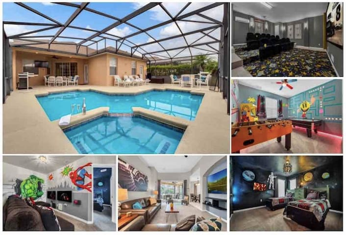 5 Bedroom, 5 Bath, South Facing Pool with Theatre!