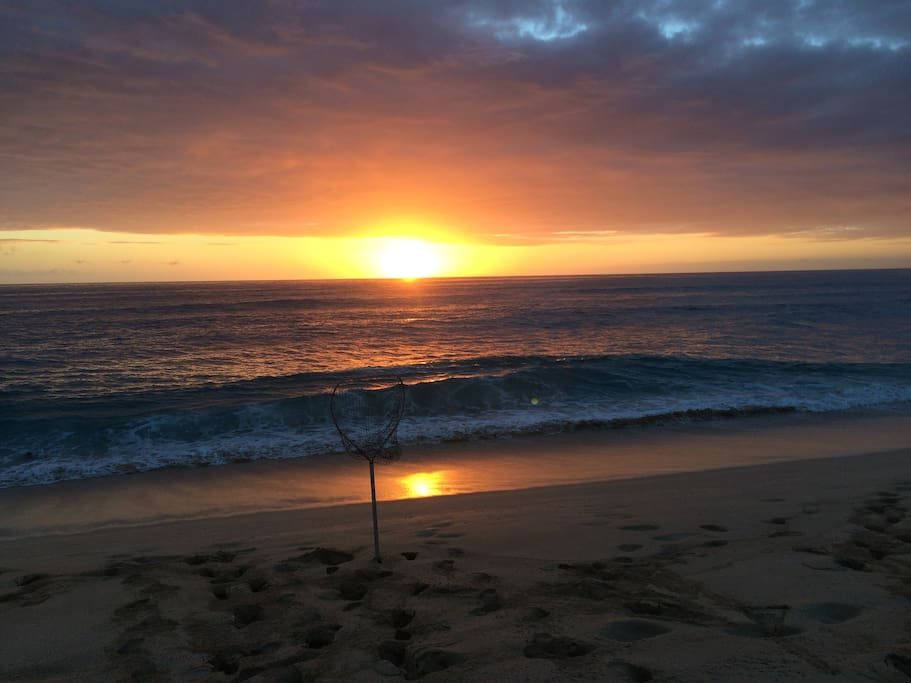 Sunset at Makaha Beach