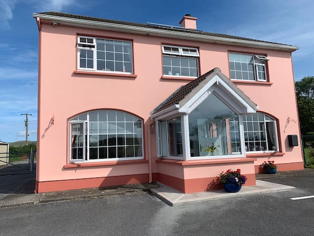 With spectacular views over Looking Dingle bay.