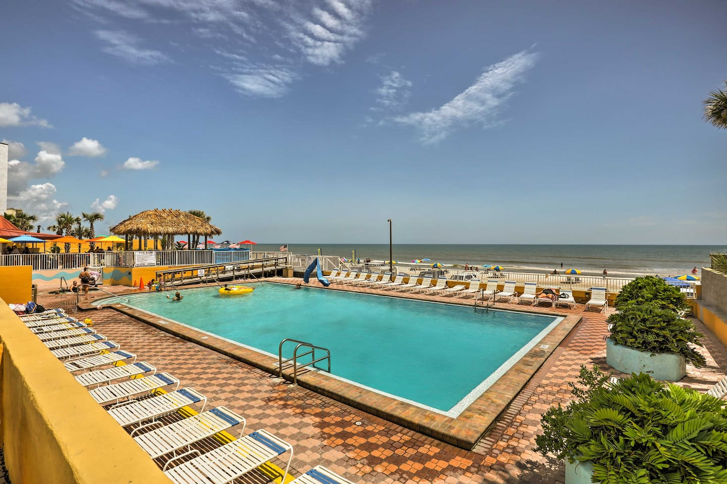 Dive into your next vacation at this Daytona beachfront resort property!