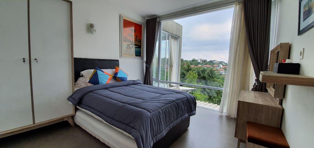 Bandung city view bedroom