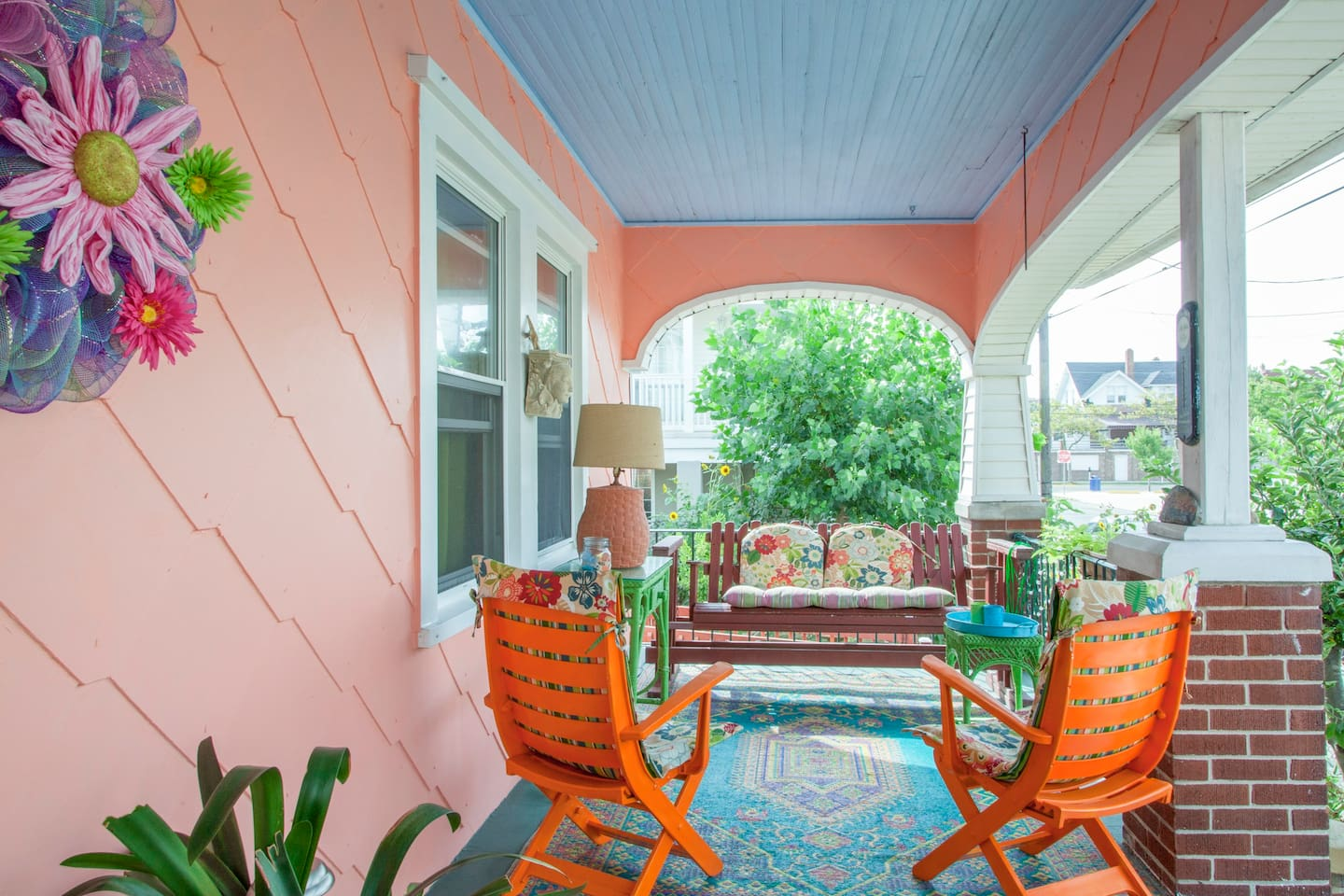 Your private entrance includes your own front porch. Perfect for cocktails before dinner or just for relaxing after a long day on the beach.