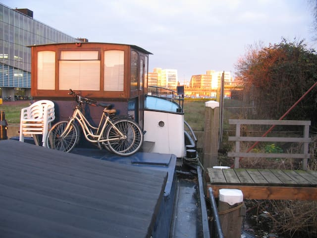 David's boat Amsterdam