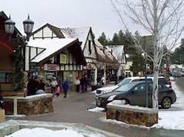 Big Bear Village is 0.5 mile from the cabin.
