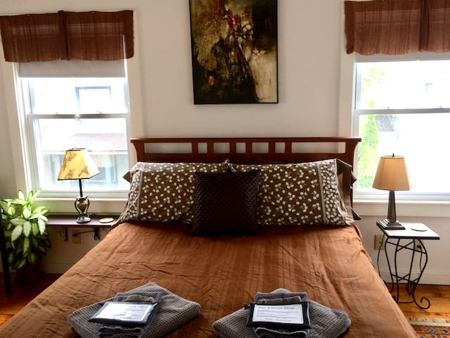 Great Barrington Downtown, Queen Bed, Original Art