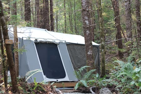 Sol duc rainforest retreat glamping cabin tent 2