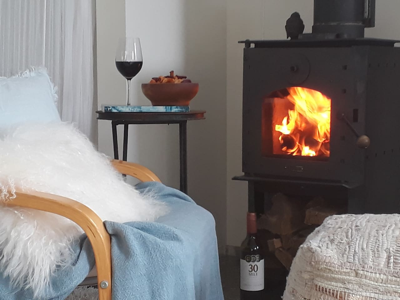 relax with your feet up by the fire on a winters night